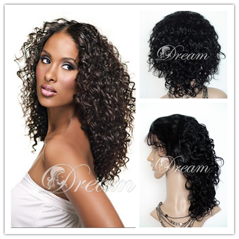 Brazilian Curly Wig Front Lace Human Hair Wigs Natural Looking