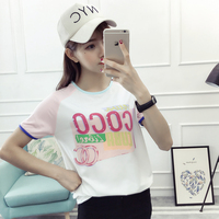 New Women T Shirt Spring Summer Vacation O Neck Women Short Sleeve T Shirt Coco Fashion