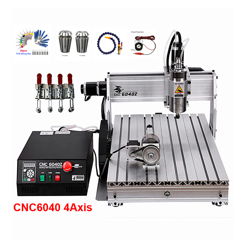 1500W CNC Router 6040Z Desktop CNC Engraving Machine 600*400mm 2200W For PVC ABS PCB Wood Aluminum Work