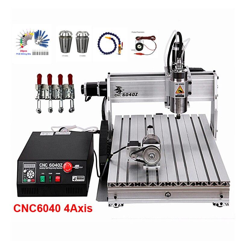 1500 W CNC routeur 6040Z bureau CNC Machine de gravure 600*400mm 2200 W pour PVC ABS PCB bois aluminium travail