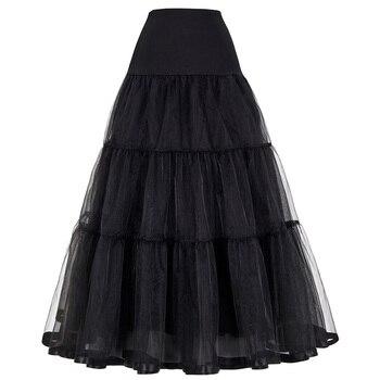 Long Petticoat Ruffled Crinoline Vintage Wedding Bridal for Dresses Underskirt Rockabilly Tutu - discount item  10% OFF Wedding Accessories