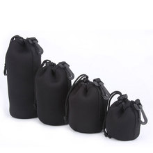 Soft Black Small DSLR Camera Lens Protector Drawstring Pouch Bag Bagpack Case Waterproof Cover 4 pcs Size XL L M S TW-369