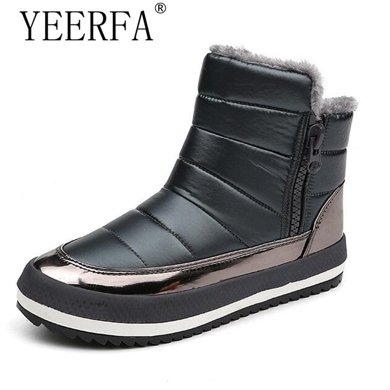 Shoes Woman Winter Snow Boots Plus Velvet Thickening Female BootsSide Zipper Thick Cotton Boots Student Cotton Shoes Warm Warm