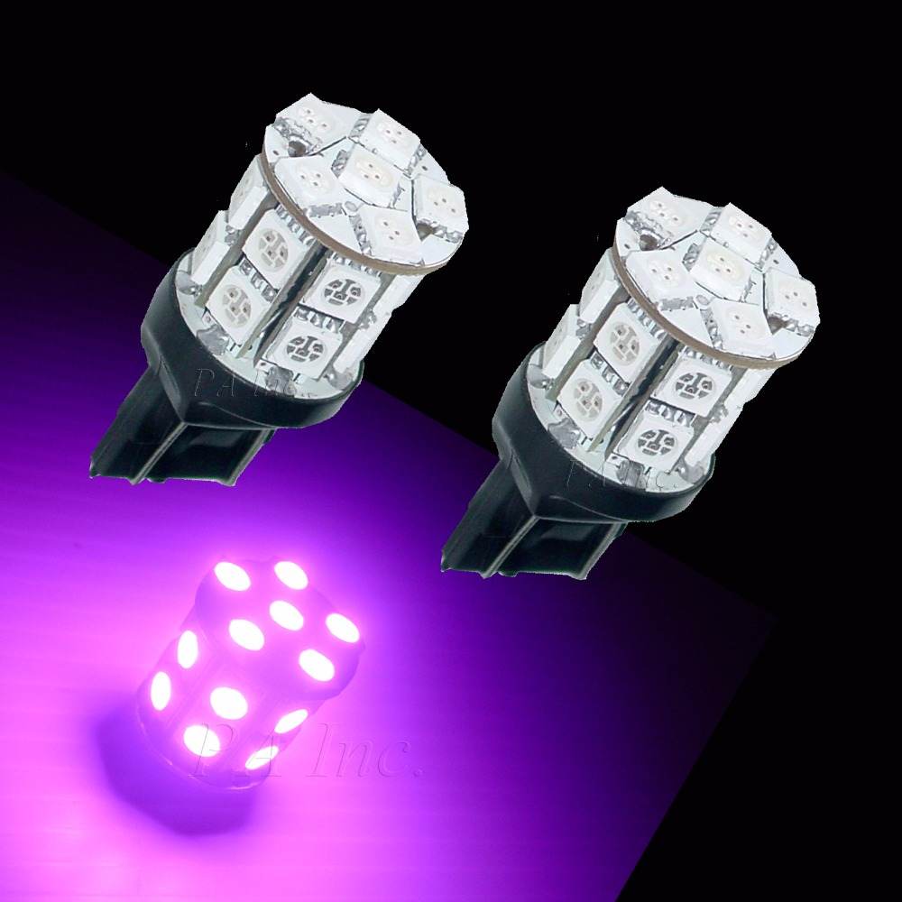 PA LED 4 pièces x T20 7440 20SMD 5050 Auto voiture lumière LED pour coffre lampe ampoules violet courant fixe 12 V