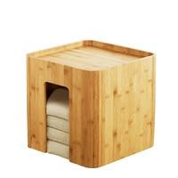 Бамбуковый табурет Мути Функция Чай стол с 4 Подушки Кофе столик татами изменение стула Гостиная мебелью