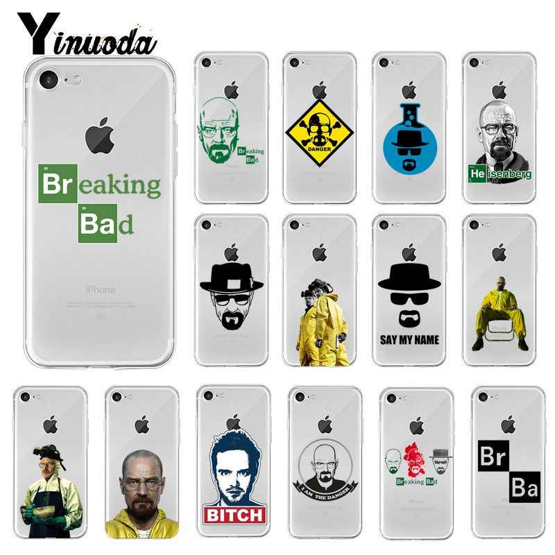 Yinuoda Breaking Bad TPU Soft Silicone Phone Case Cover for iPhone 5 5Sx 6 7 7plus 8 8Plus X XS MAX XR Fundas Capa 11 pro max