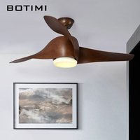 Botimi New 52 Inch Ceiling Fan Ventilador De Techo Ceiling Fans With Lights Remote Modern Cooling