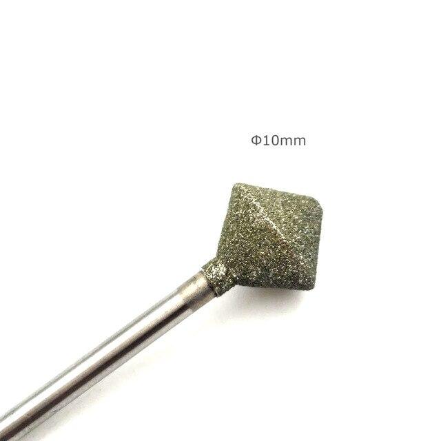 """HYTOOS 10mm Rhombus Diamond Nail Drill Bit 3/32"""" Rotary Burr Manicure Cutters Electric Drill Accessories Nail Mills Tools-D-7 3"""