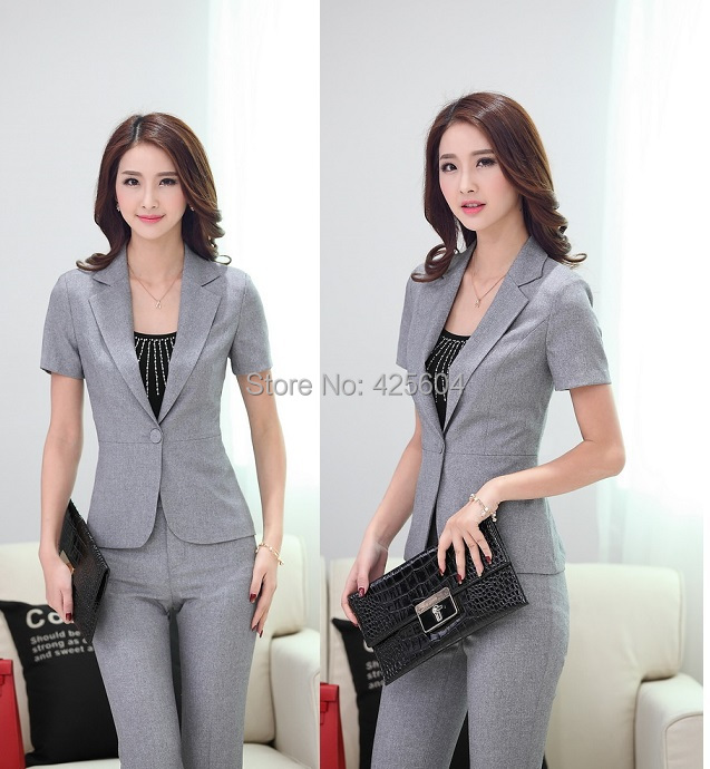 Formal pantsuits uniform design female office suits for for Office uniform design 2015