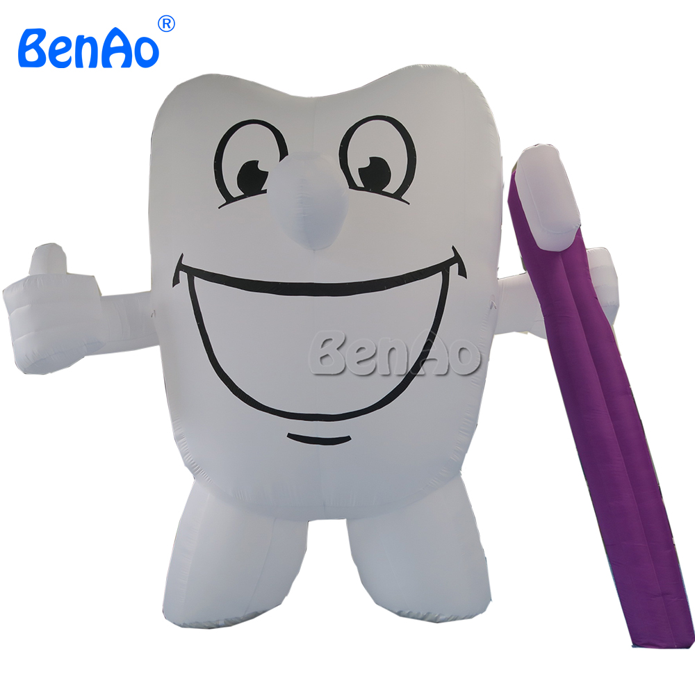 AC001 BENAO Free shipping Hot sale inflatable tooth, giant inflatable toothbrush, inflatable tooth balloon for advertising image