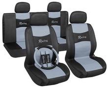 Полный набор автомобильных чехлов для сидений Универсальный модный жаккардовый вязаный авто чехлы для сидений автомобиля аксессуары для интерьера красный/серый/синий цвета