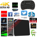 MINI M8S S905X II Android Smart TV Box Amlogic Quad Core 6.0 2G/16G Bluetooth 4.0 4 K Totalmente Añadidos NUEVOS superior V88 M8S MX PRO