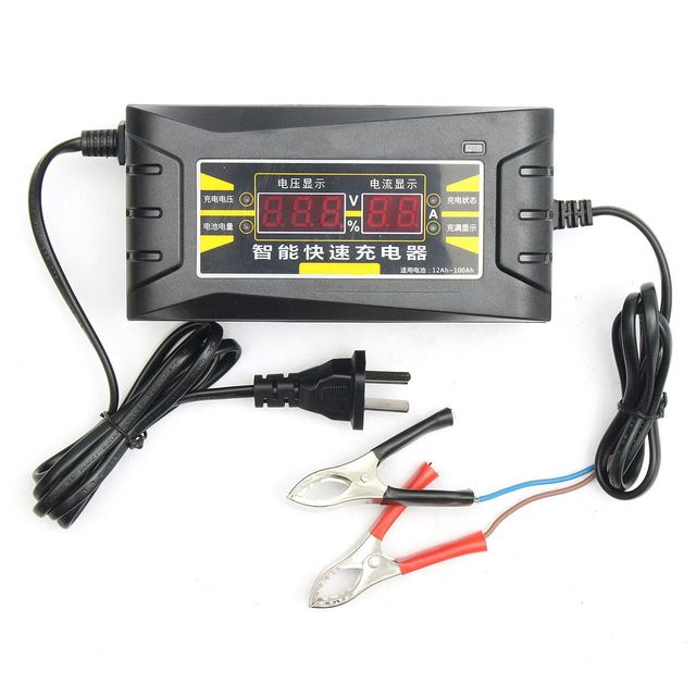 110V/220V Output 12V 6A Full Automatic Smart Fast Battery Charger For Car Motorcycle LCD Display