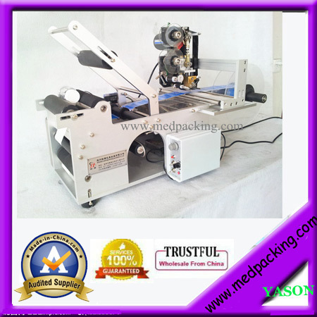 Round Bottle Labeling Machine for various sizes of bottles+Coding Machine GRIND