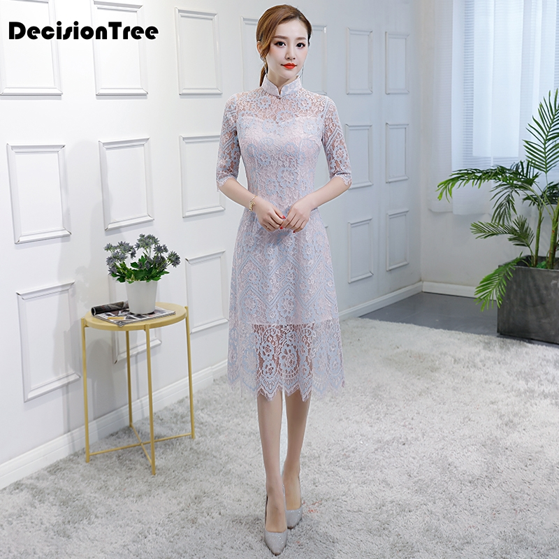 2019 été sexy qipao robe courte paquet babydoll sous-vêtements dentelle cheongsam transparent lingerie fille érotique costumes robe
