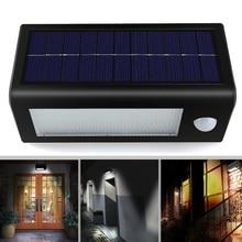 32 LED Outdoor Solar Wall Light PIR Motion Sensor Solar Lamp 18650 battery solar powered Waterproof IP65 for home Garden Light цена
