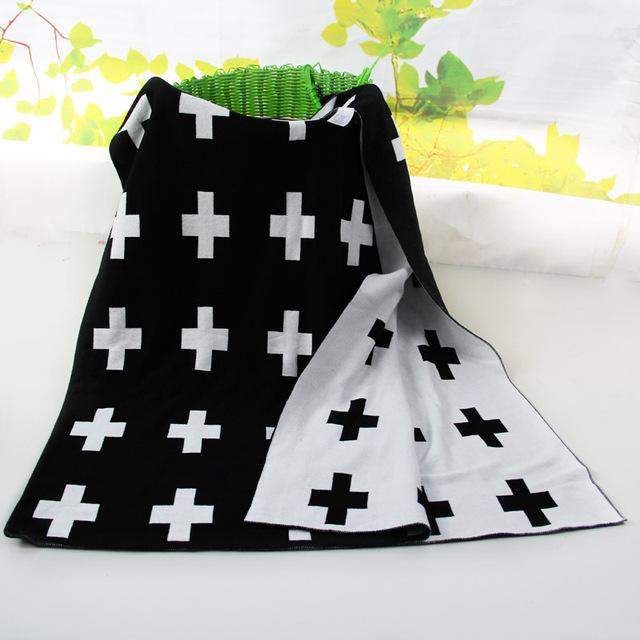 De punto de algodón de doble capa de manta de bebé para dormir y viajar y ducha