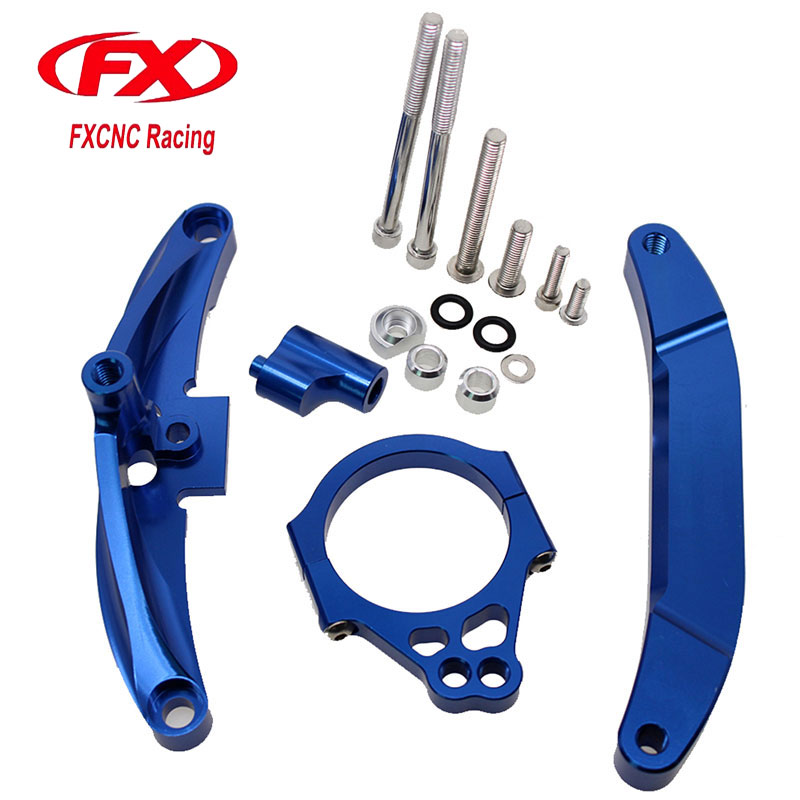FX CNC Aluminum Adjustable Steering Stabilize Motorcycle Damper Bracket Mounting Kits Fit for YAMAHA FZ1 FAZER 2006-2015 for honda cbr600rr cbr 600rr 2005 2006 fx cnc aluminum adjustable motorcycle steering stabilizer mounting bracket support kit