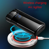 Wireless Charging Windproof Lighter Touch Screen Switch Power Display Double Arc Electric Plasma Pulse Lighters WIth Gift Box