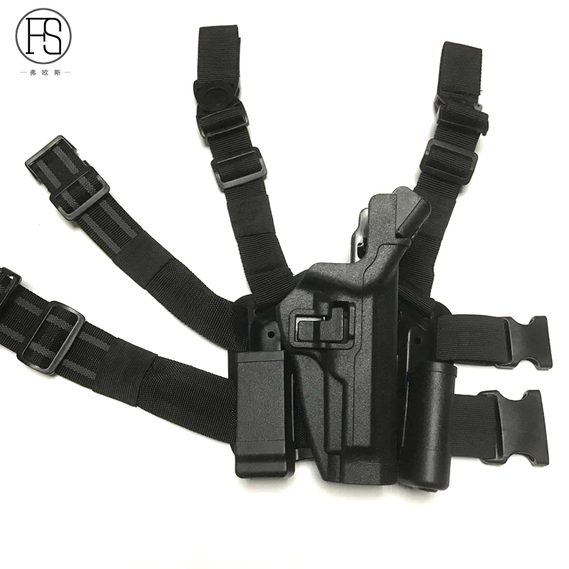 FS Tactical Right Thigh Holster Gun Holster Hunting Airsoft Tactical Pistol Gun Drop Leg Double adjustable quick release plastic tactical puttee thigh leg pistol holster pouch for usp45 black page 3