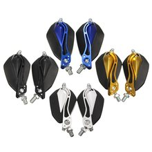 A Pair Universal Black Gold Blue Silver 10mm 8mm Motorbike Motorcycle Rear View Mirrors for Yamaha