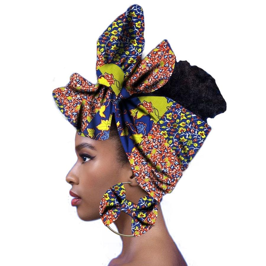 African Scarf Wax Print Head Wraps Women Turban Nigerian Headtie Fashion SY373