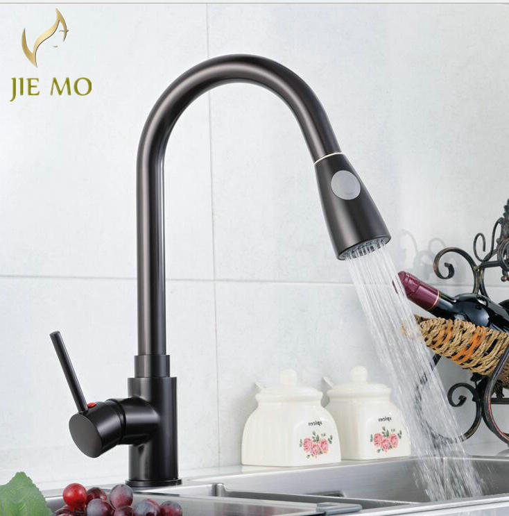 Free Shipping New design pull out faucet golden swivel kitchen sink ...