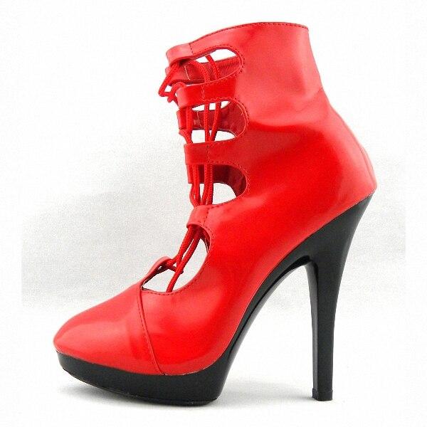 Club Chaussures Sexy Confortable Femmes Cheville 15 Bottes Hauts Découpes À 6 Pouce Court Cm Talons jambe 2YbEHIWDe9