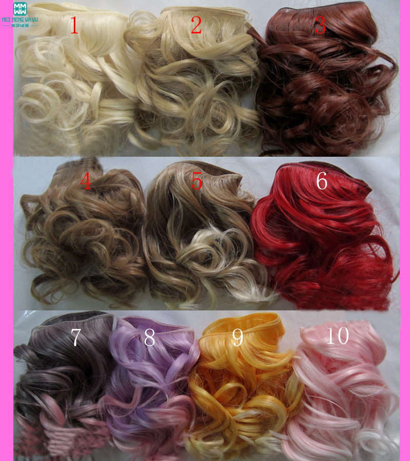 1pcs 15cm*100CM doll wigs Big wave for 1/3 1/4 BJD SD DIY doll hair doll hair wigs for 1 3 1 4 1 6 bjd wigs high temperature wire fashion curly hair piece for bjd sd dollfie 1pcs 25cm 100cm