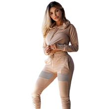 Winter Autumn Long Sleeve Two Piece Set 2 pieces Sets 2018 Female Fitness Tracksuit Women High