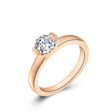 ФОТО romad brand anillos luxury jewelry rings for women rose gold color zirconia fashion wedding engagement rings