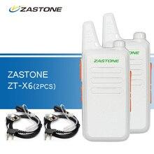 2pcs Zastone ZT-X6 Walkie-Talkies Handheld CB Radio UHF 400-470 MHz Ham Radio Transceiver Walkie-talkies Portable Walkie Talkies