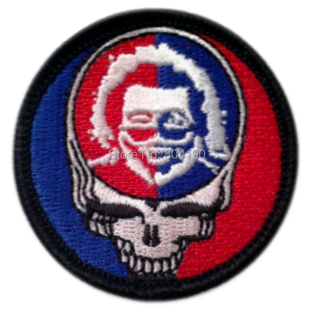 2 Grateful Dead Steal Your Face Jerry Garcia Music Band Embroidered LOGO Iron On Patch Emo
