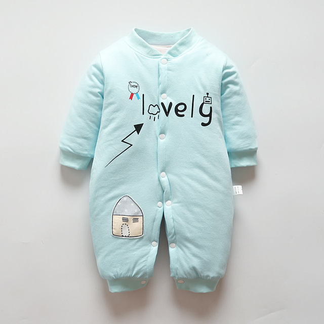 228eabe98 BibiCola Winter Thick Baby Pajamas Sleepwear For Newborn Warm Cotton ...