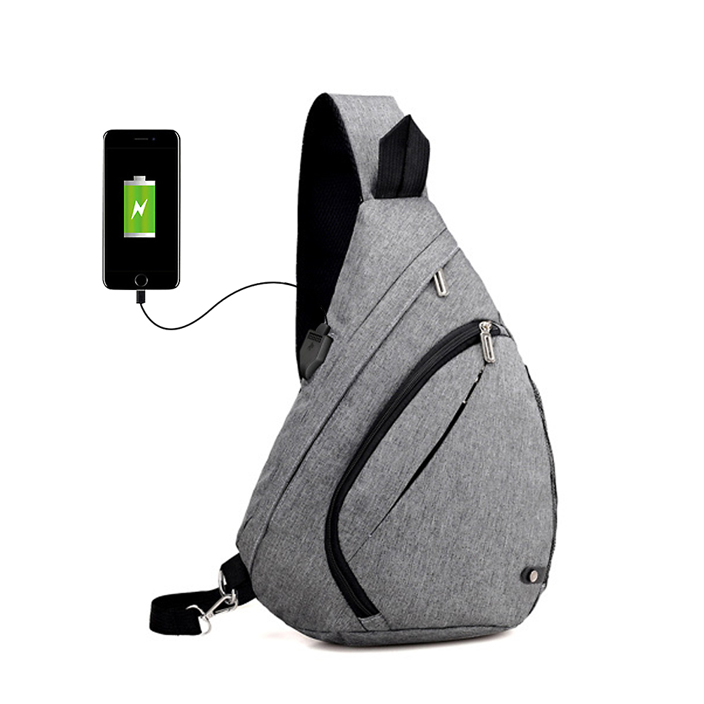 USB Charging Anti Thief Fashion Oxford Men Travel Chest Bag Design Laptop Notebook Mochila Waterproof Unisex Messenger Bag Sac voyjoy t 530 travel bag backpack men high capacity 15 inch laptop notebook mochila waterproof for school teenagers students