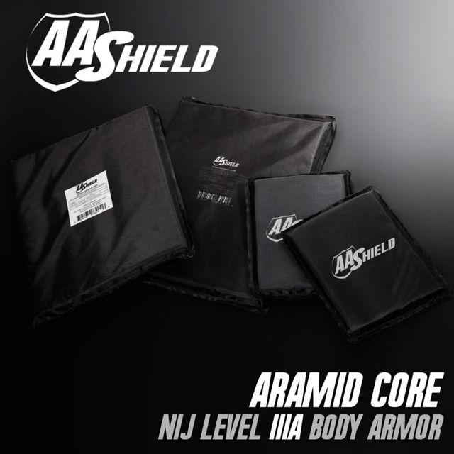 AA Painel Escudo À Prova de Bala Soft Body Armor Placa Inserções aramida Núcleo Self Defense Abastecimento Lvl IIIA NIJ 3A 11X14 (2) 6X8 (2) Kit