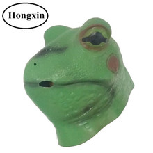 Best-welcomed Halloween Realistic Animal Latex Frog Mask