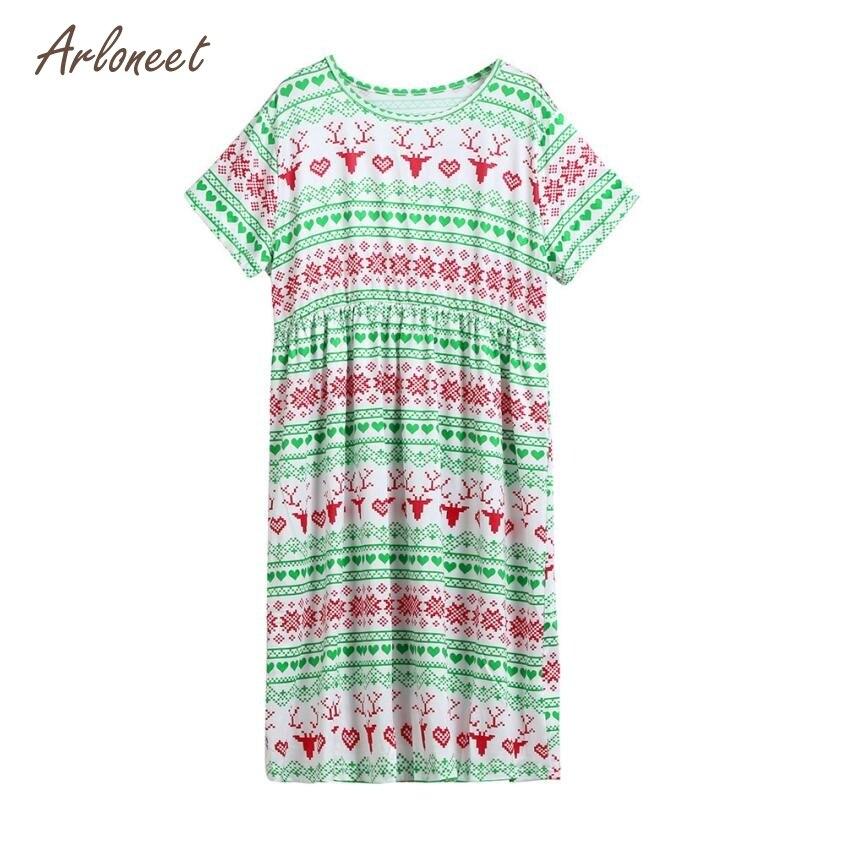 ARLONEET Baby Girls Dresses Fashion Girls Family Matching Christmas Pajamas Dress Santa Outfits Clothes FE7 Dropshipping