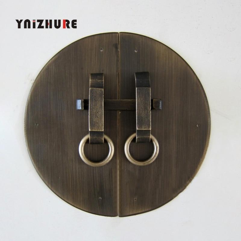 160mm modèles cuivre pièce circulaire avec meubles chinois en laiton matériel loquet armoire Face plaque porte tirer poignée en cuivre