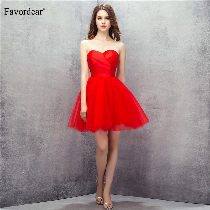 Favordear Fashion Sweetheart Backless Short Prom Form Party   Cocktail     Dress   Vestido De Noiva Special Occasion   Cocktail     Dress