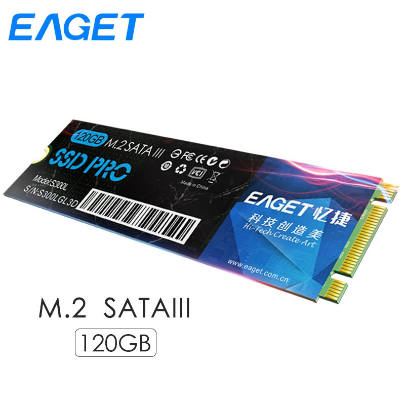 Eaget NGFF M.2 SSD 120 GB SATA III Interne Solid State Drive 120G SSD M2 disco duro interno 3.0 HD HDD Disque Dur Pour Ordinateur Portable