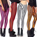 2016 New Women Sexy Zebra Vertical Striped Leggings Ladies Hosiery Plus Size Full Pants