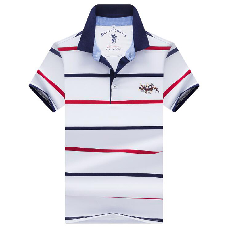 Men's shirt   polo   high quality 2019 Summer Brand Men   Polo   Shirt Business Casual Short Sleeve Striped Cotton Solid   Polo   Shirt men