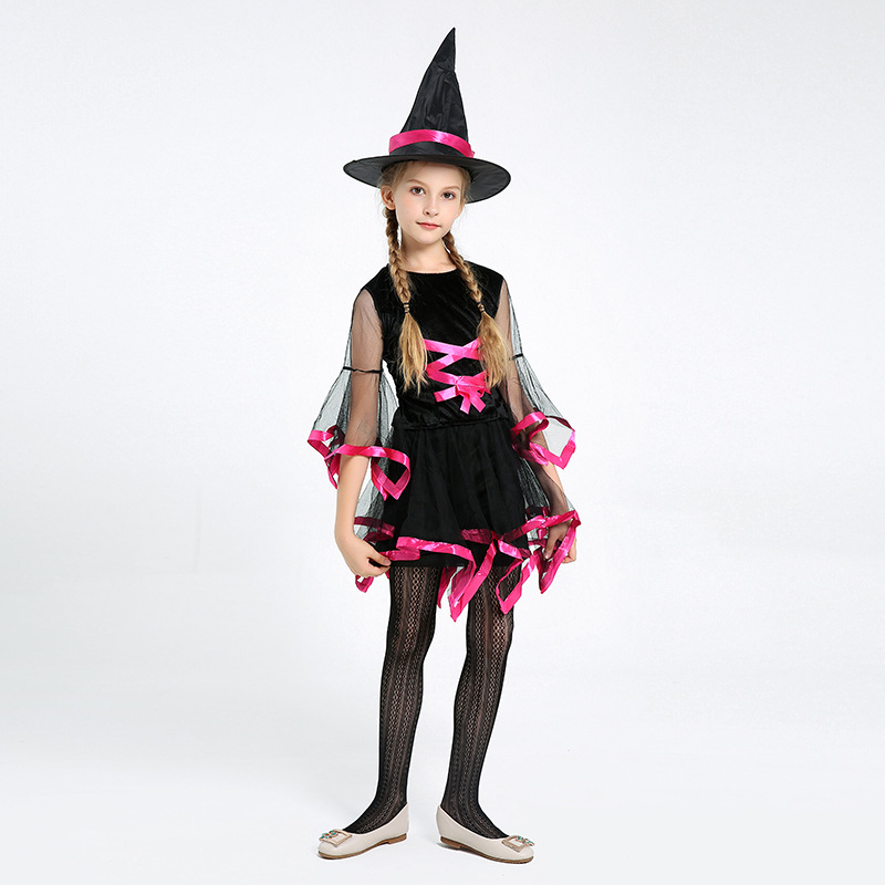 Girls Witch Costumes Role Play Childrens Day Girl Dresses -8498