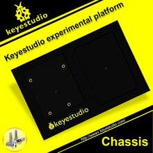 1 pçs keyestudio abs base de plataforma experimental para uno r3 titular + placa de pão/mega 2560 suporte + fixação de placa de pão