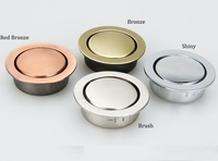 10Pcs Lot Zinc Flush Recessed Flap Knob Furniture Cupboard Cabinet Handle