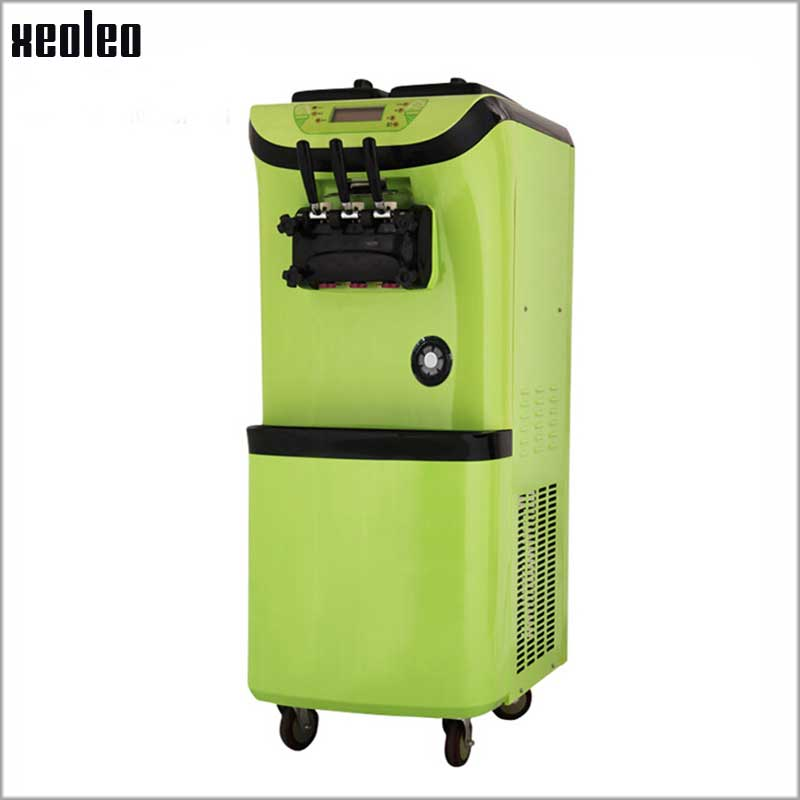 Xeoleo Commercial Soft Ice cream maker 1800W 3 flavors Soft Ice Cream machine 28L/H 220V with Expand pump & Pre-cooling system 30l h commercial soft ice cream making maker machine air cooling 3 flavors china soft serve ice cream maker machine with ce