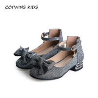 CCTWINS KIDS 2018 Autumn Baby Girl Fashion Princess Shoe Children Butterfly Party Heel Toddler Pu Leather Mary Jane GH1729