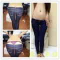 Calça de Cowboy feminino Ultra Slim low-rise calça jeans estilo clássico lápis calças apertadas calças de cintura e nádegas