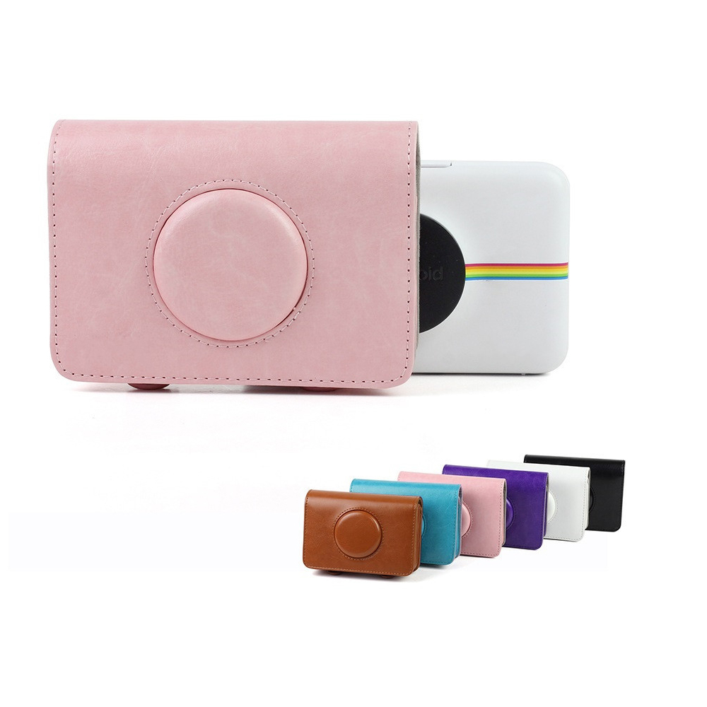 PU Leather Camera Bag Retro Protective Case Cover Pouch for Polaroid Snap Touch Camera Backpack